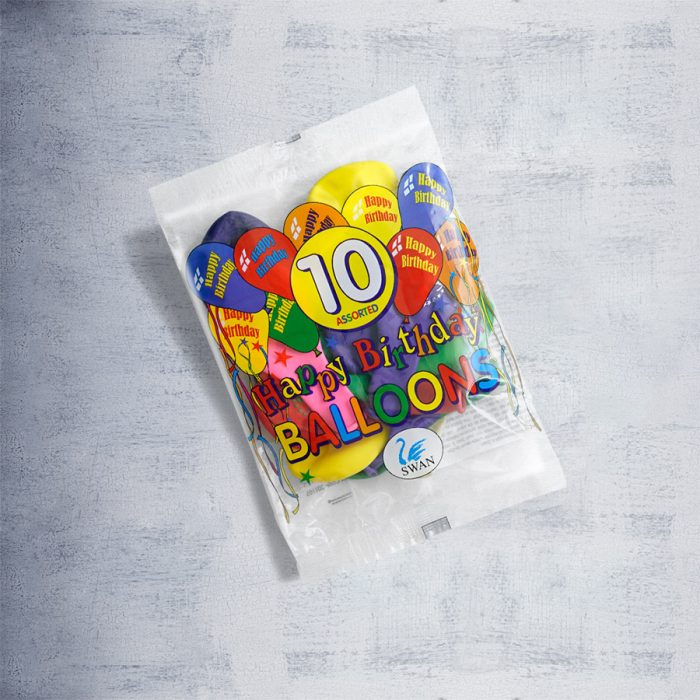 "Printed Balloons ""Happy Birthday"""