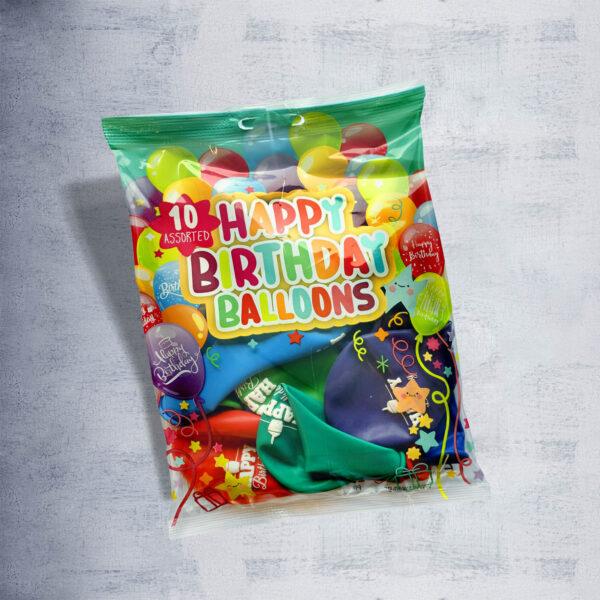 "Printed Balloons ""Happy Birthday"""